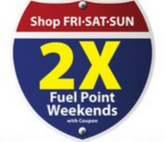 Get double the fuel points during weekends this summer.