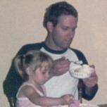 Eating ice cream. Circa 1984.