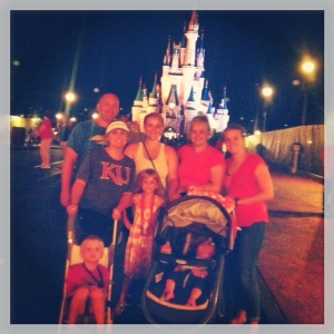 All 8 of us at the Magic Kingdom
